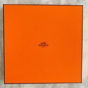 "Hermes Storage Gift Box 9.5"" Square Scarf Display"
